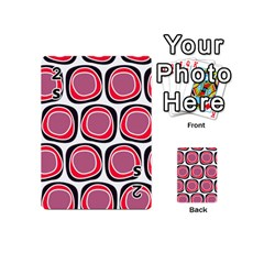 Wheel Stones Pink Pattern Abstract Background Playing Cards 54 (mini)  by BangZart