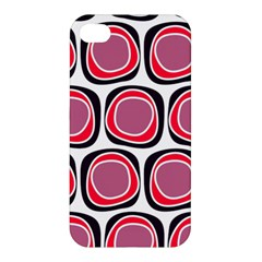 Wheel Stones Pink Pattern Abstract Background Apple Iphone 4/4s Hardshell Case by BangZart