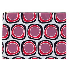 Wheel Stones Pink Pattern Abstract Background Cosmetic Bag (xxl)  by BangZart