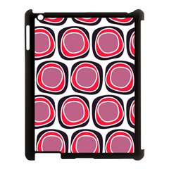 Wheel Stones Pink Pattern Abstract Background Apple Ipad 3/4 Case (black) by BangZart