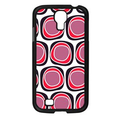 Wheel Stones Pink Pattern Abstract Background Samsung Galaxy S4 I9500/ I9505 Case (black) by BangZart