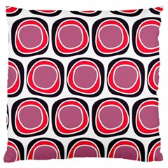 Wheel Stones Pink Pattern Abstract Background Large Flano Cushion Case (one Side) by BangZart