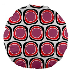 Wheel Stones Pink Pattern Abstract Background Large 18  Premium Flano Round Cushions by BangZart