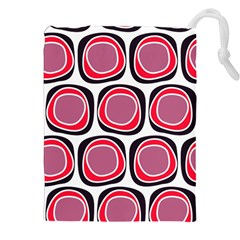 Wheel Stones Pink Pattern Abstract Background Drawstring Pouches (xxl) by BangZart