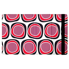 Wheel Stones Pink Pattern Abstract Background Apple Ipad Pro 9 7   Flip Case by BangZart