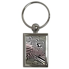 Abstract Fauna Pattern When Zebra And Giraffe Melt Together Key Chains (rectangle)  by BangZart