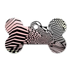 Abstract Fauna Pattern When Zebra And Giraffe Melt Together Dog Tag Bone (two Sides) by BangZart