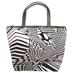 Abstract Fauna Pattern When Zebra And Giraffe Melt Together Bucket Bags by BangZart