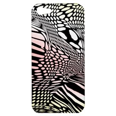 Abstract Fauna Pattern When Zebra And Giraffe Melt Together Apple Iphone 5 Hardshell Case by BangZart