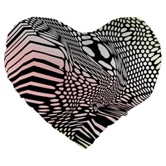 Abstract Fauna Pattern When Zebra And Giraffe Melt Together Large 19  Premium Heart Shape Cushions by BangZart