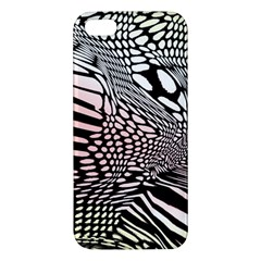 Abstract Fauna Pattern When Zebra And Giraffe Melt Together Iphone 5s/ Se Premium Hardshell Case by BangZart