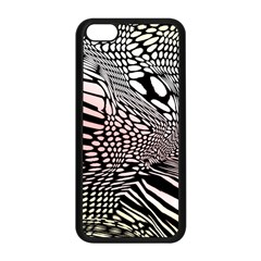 Abstract Fauna Pattern When Zebra And Giraffe Melt Together Apple Iphone 5c Seamless Case (black) by BangZart