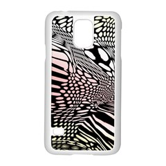 Abstract Fauna Pattern When Zebra And Giraffe Melt Together Samsung Galaxy S5 Case (white) by BangZart