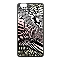 Abstract Fauna Pattern When Zebra And Giraffe Melt Together Apple Iphone 6 Plus/6s Plus Black Enamel Case by BangZart