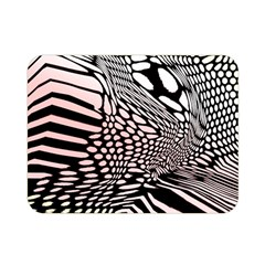 Abstract Fauna Pattern When Zebra And Giraffe Melt Together Double Sided Flano Blanket (mini)  by BangZart