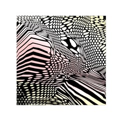 Abstract Fauna Pattern When Zebra And Giraffe Melt Together Small Satin Scarf (square) by BangZart