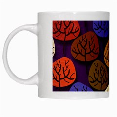 Colorful Trees Background Pattern White Mugs by BangZart