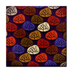 Colorful Trees Background Pattern Face Towel by BangZart