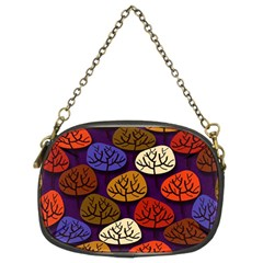 Colorful Trees Background Pattern Chain Purses (two Sides)  by BangZart