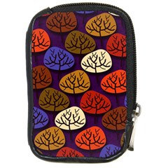 Colorful Trees Background Pattern Compact Camera Cases by BangZart