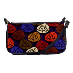 Colorful Trees Background Pattern Shoulder Clutch Bags by BangZart