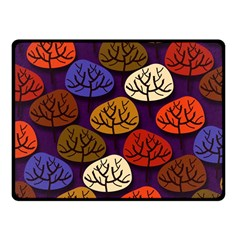 Colorful Trees Background Pattern Fleece Blanket (small) by BangZart