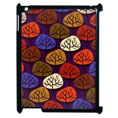 Colorful Trees Background Pattern Apple Ipad 2 Case (black) by BangZart