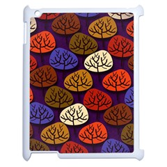 Colorful Trees Background Pattern Apple Ipad 2 Case (white) by BangZart