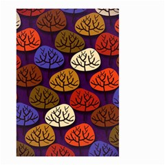 Colorful Trees Background Pattern Small Garden Flag (two Sides) by BangZart