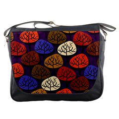 Colorful Trees Background Pattern Messenger Bags by BangZart