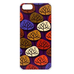 Colorful Trees Background Pattern Apple Iphone 5 Seamless Case (white) by BangZart