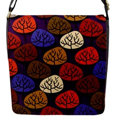 Colorful Trees Background Pattern Flap Messenger Bag (s) by BangZart