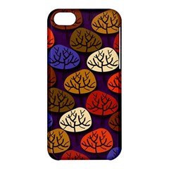 Colorful Trees Background Pattern Apple Iphone 5c Hardshell Case by BangZart