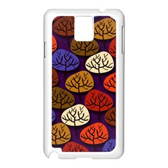 Colorful Trees Background Pattern Samsung Galaxy Note 3 N9005 Case (white) by BangZart