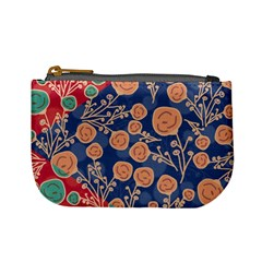 Floral Seamless Pattern Vector Texture Mini Coin Purses