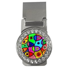 Digitally Painted Colourful Abstract Whimsical Shape Pattern Money Clips (cz)  by BangZart