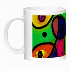 Digitally Painted Colourful Abstract Whimsical Shape Pattern Night Luminous Mugs by BangZart