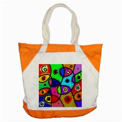 Digitally Painted Colourful Abstract Whimsical Shape Pattern Accent Tote Bag by BangZart