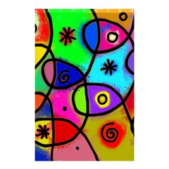 Digitally Painted Colourful Abstract Whimsical Shape Pattern Shower Curtain 48  X 72  (small)  by BangZart