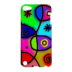 Digitally Painted Colourful Abstract Whimsical Shape Pattern Apple Ipod Touch 5 Hardshell Case by BangZart