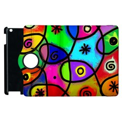 Digitally Painted Colourful Abstract Whimsical Shape Pattern Apple Ipad 3/4 Flip 360 Case by BangZart