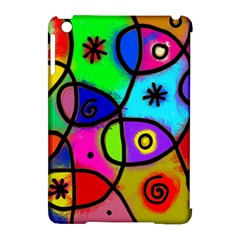 Digitally Painted Colourful Abstract Whimsical Shape Pattern Apple Ipad Mini Hardshell Case (compatible With Smart Cover) by BangZart