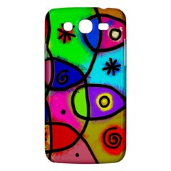 Digitally Painted Colourful Abstract Whimsical Shape Pattern Samsung Galaxy Mega 5 8 I9152 Hardshell Case  by BangZart
