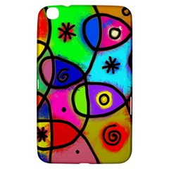 Digitally Painted Colourful Abstract Whimsical Shape Pattern Samsung Galaxy Tab 3 (8 ) T3100 Hardshell Case  by BangZart