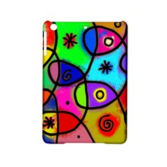 Digitally Painted Colourful Abstract Whimsical Shape Pattern Ipad Mini 2 Hardshell Cases by BangZart