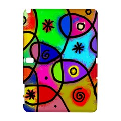 Digitally Painted Colourful Abstract Whimsical Shape Pattern Galaxy Note 1 by BangZart