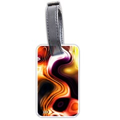 Colourful Abstract Background Design Luggage Tags (one Side)  by BangZart