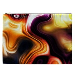 Colourful Abstract Background Design Cosmetic Bag (xxl)  by BangZart