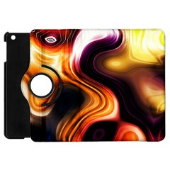 Colourful Abstract Background Design Apple Ipad Mini Flip 360 Case by BangZart