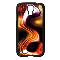 Colourful Abstract Background Design Samsung Galaxy S4 I9500/ I9505 Case (black) by BangZart